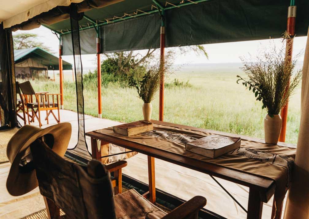 Kirurumu Serengeti Camp view from tent