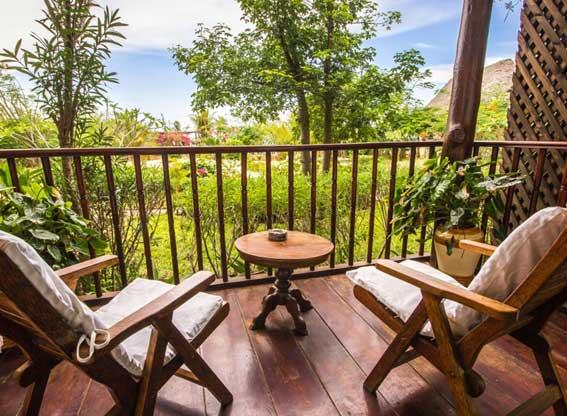 Bougainvillea House veranda