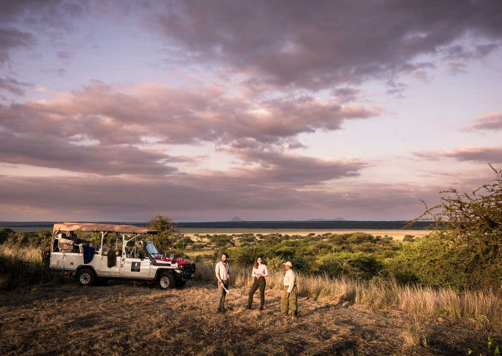 Bush sundowners near Swala Camp