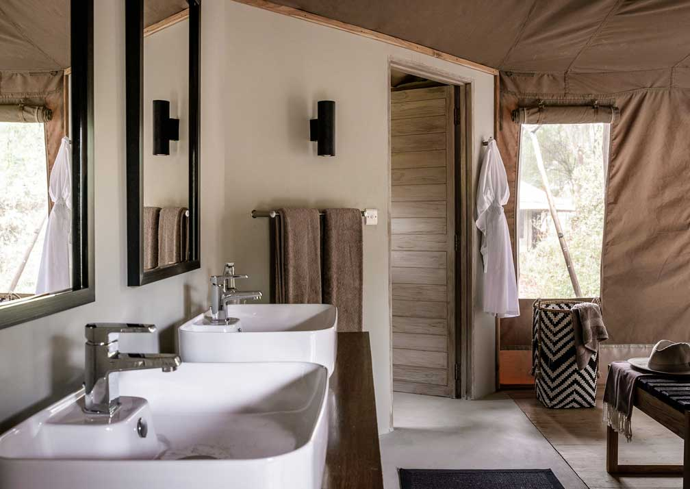 Bathroom at Swala Camp