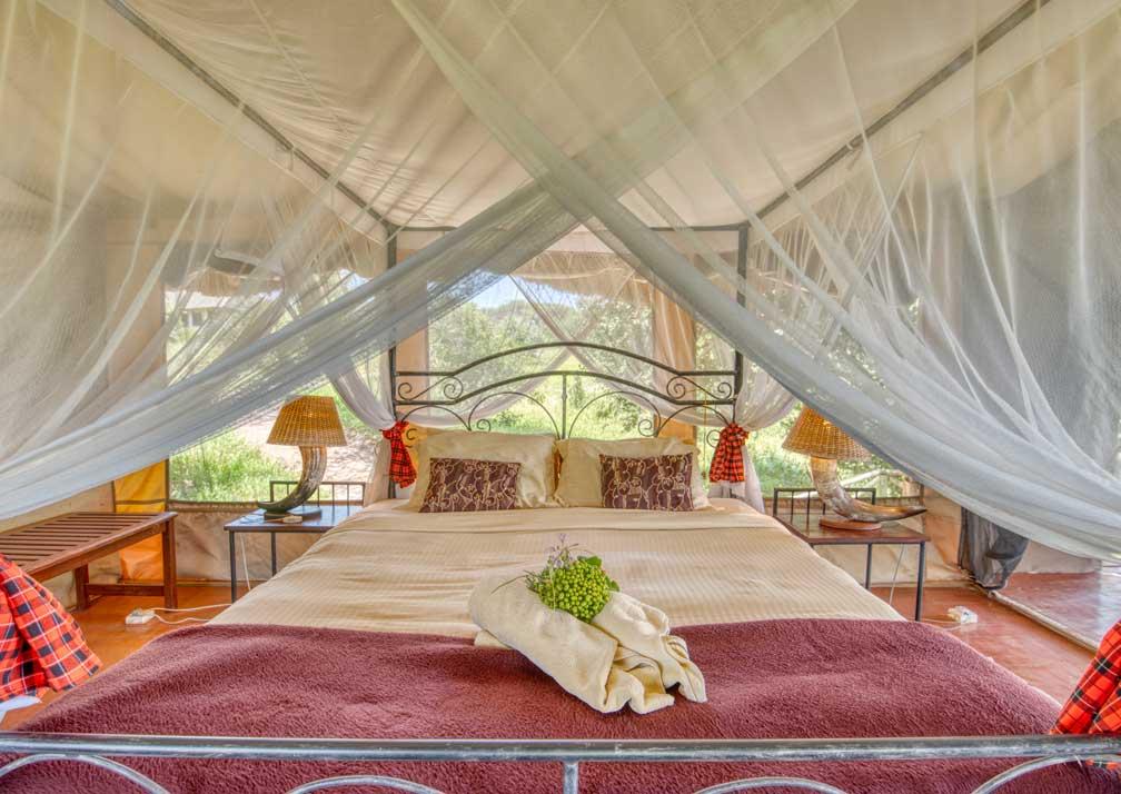 Bedroom at Mbali Mabli Tarangire River Camp