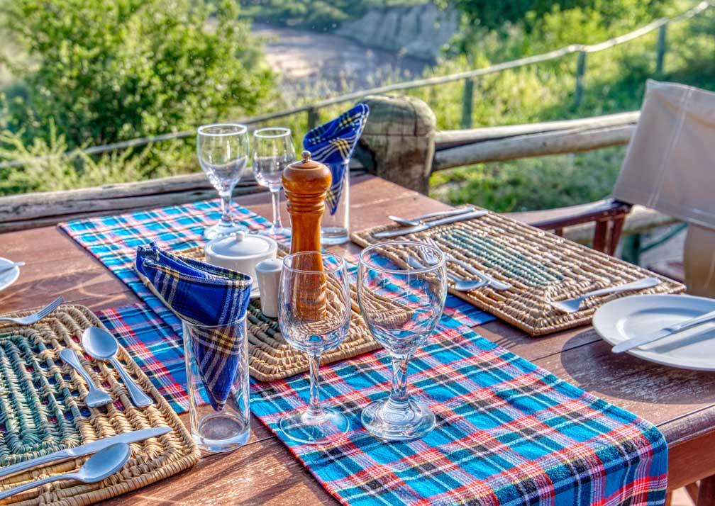 Dining at Mbali Mabli Tarangire River Camp