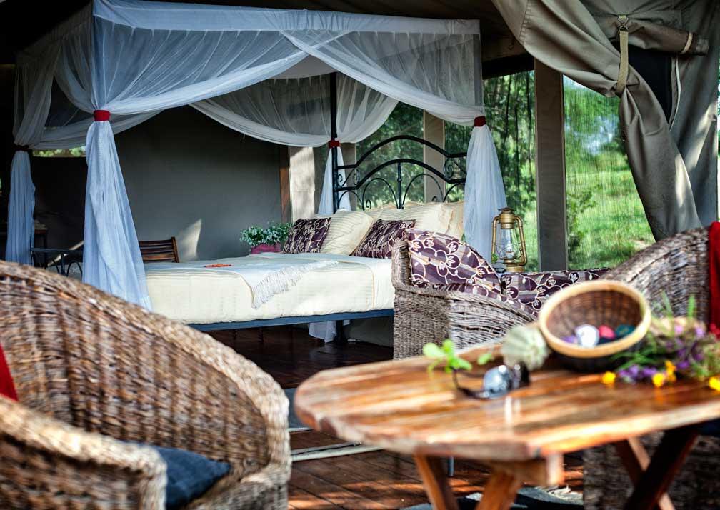 Double safari tent