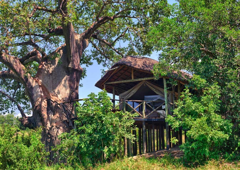 Luxury safari tent location