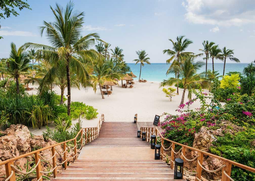 Zuri Zanzibar steps to beach