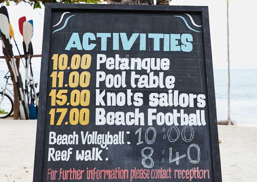 Baraza activities board