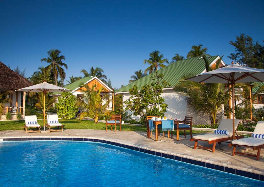 The pool at Kisiwa on the Beach