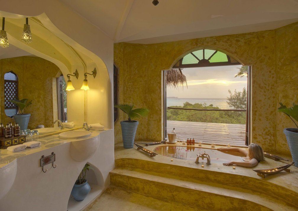 Matemwe Retreat villa bathroom