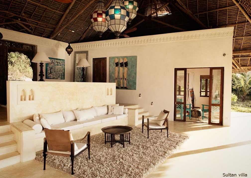 Sultan Villa living room