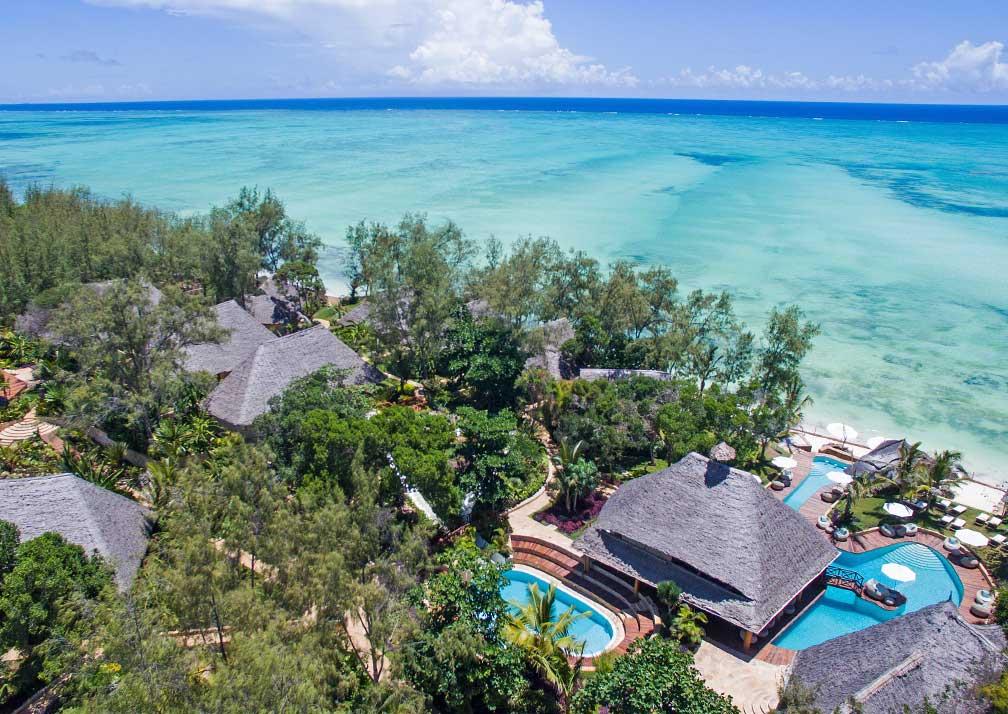 Aerial view of Tulia Zanzibar