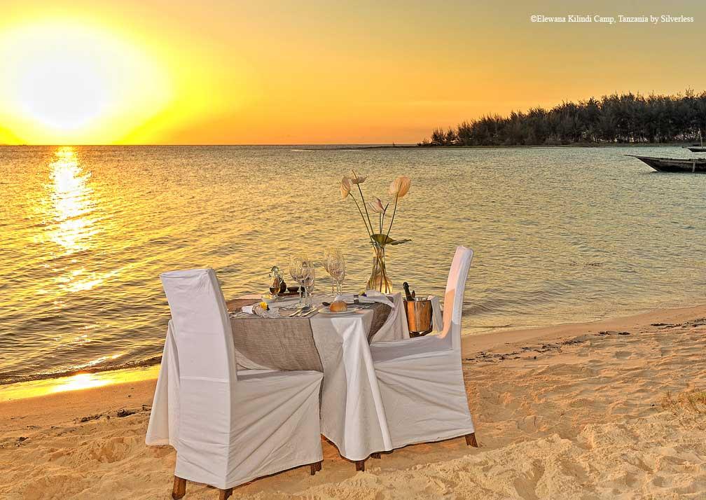kilindi dining on the beach